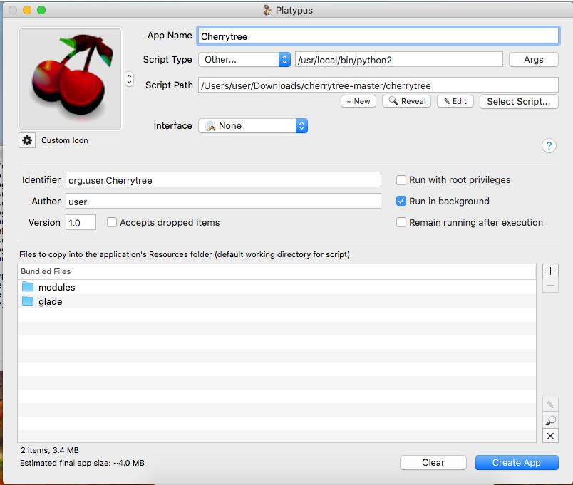 CherryTree on MacOS (OSX) | phillips321 co uk